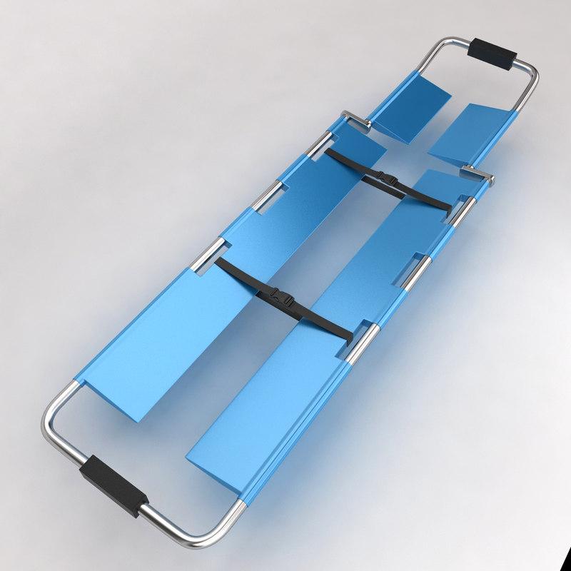 hospital stretcher bed equipment 3d max