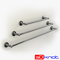 towel bars 3d model