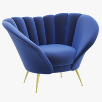 3d model brabbu andes armchair