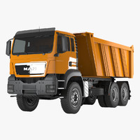 3d man tipper truck model