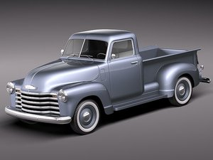 chevrolet pickup 1950 antique 3d max