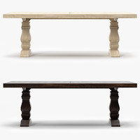 Restoration Hardware trestle salvaged wood extension dining table