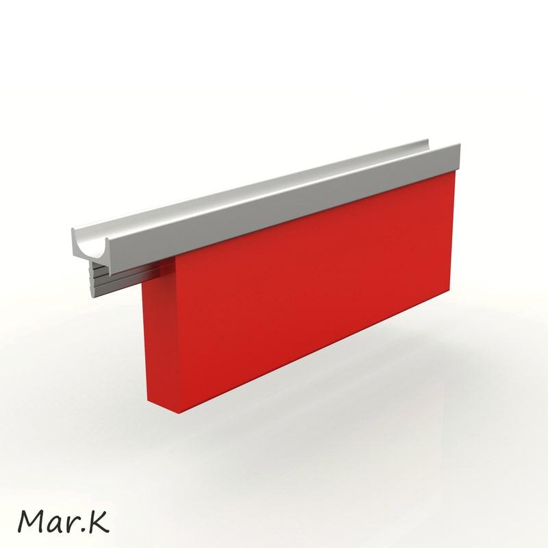 3d model handle alu-lkw4