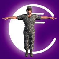Militar rigged model