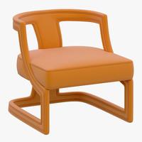 3d brabbu batak armchair model
