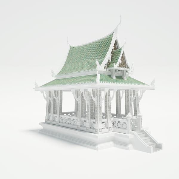 pavilion architecture 3d model