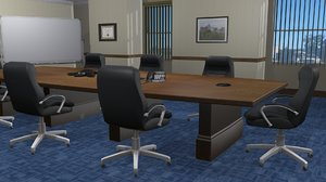 conference room office 3ds