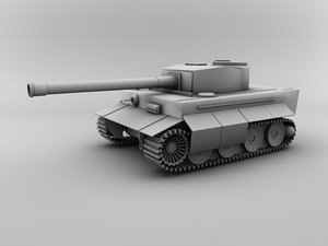 basic tiger tank 3d 3ds