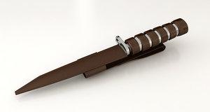 3d bayonet knife