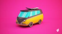 3d surfer minivan van