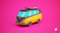 surfer minivan van 3d x