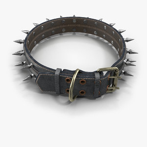 3d model spiked dog collar