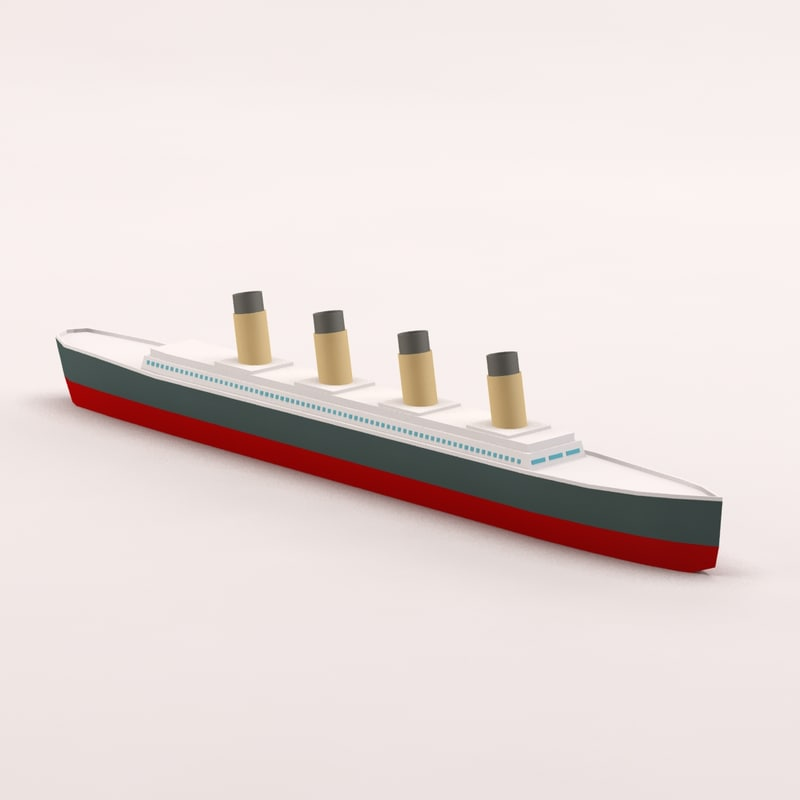 titanic cartoon 3d model