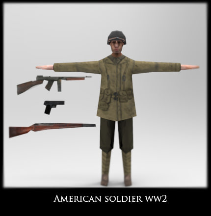 3d model american soldier