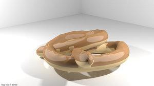 bread pretzel 3ds