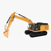 track excavator extreme duty 3d model
