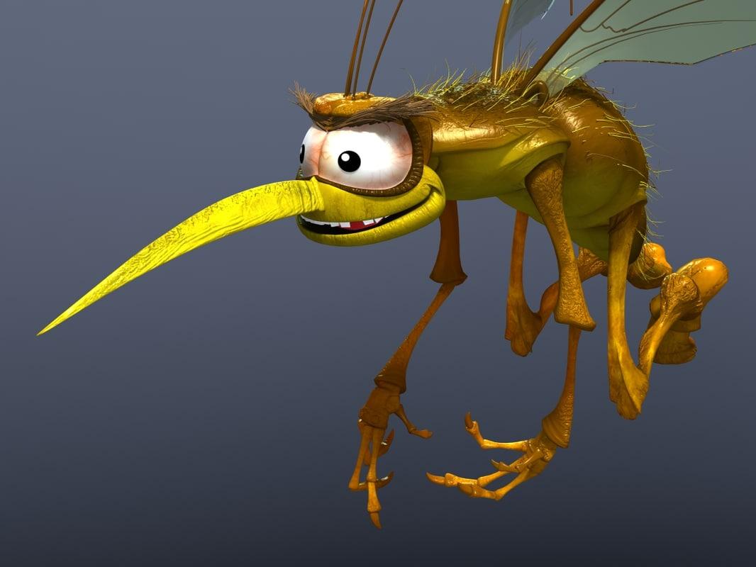mosquito cartoon 3d max
