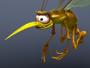mosquito cartoon 3d max