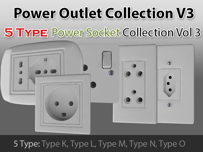 power outlet v3 3d model