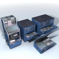 3d model tool cabinet