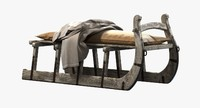 restoration hardware bench antique 3d max