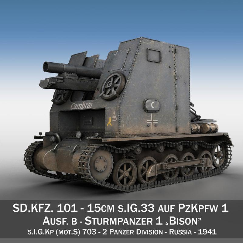 - 1 tanks panzer 3d model