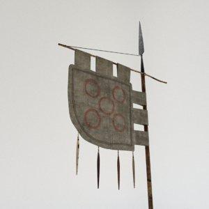 viking flag 3d ma