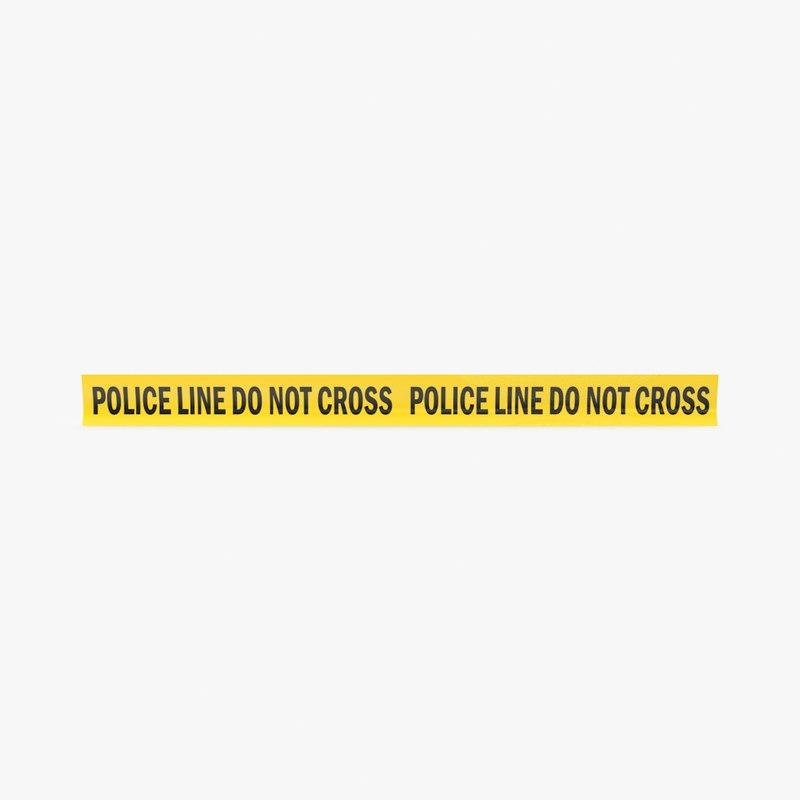 3d model police tape strip