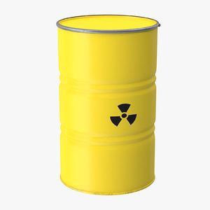 radioactive barrel 3d model