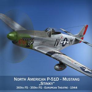 3d model north american - stinky