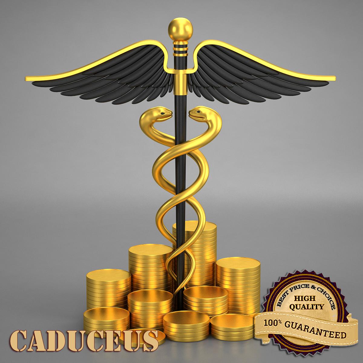 caduceus 3d model
