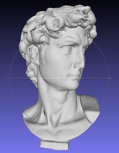 3d david head printer model