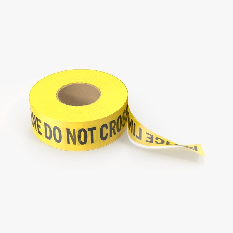 3d police tape roll