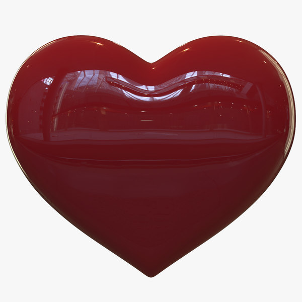 3d max heart red