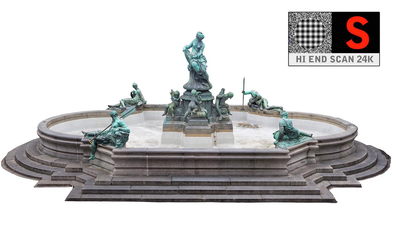 donnerbrunnen fountain vienna 24k max
