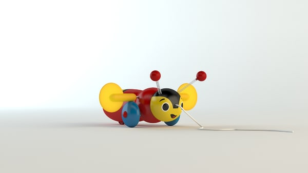 3d model of buzzy bee toy
