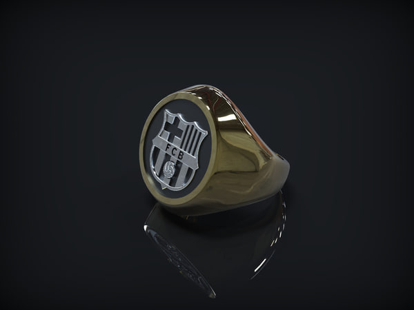 3d Model Fc Barcelona Logo Ring