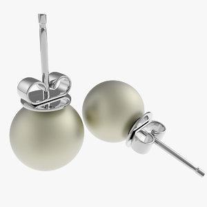 3d earring pearl model