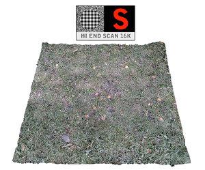 frozen grass lawn 16k 3d model