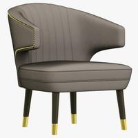 3d brabbu ibis armchair model