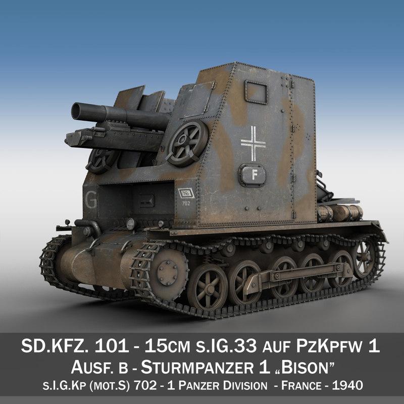 3d model - 1 tanks panzer