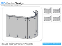 3DMD Railing Post on Panel C V4.5