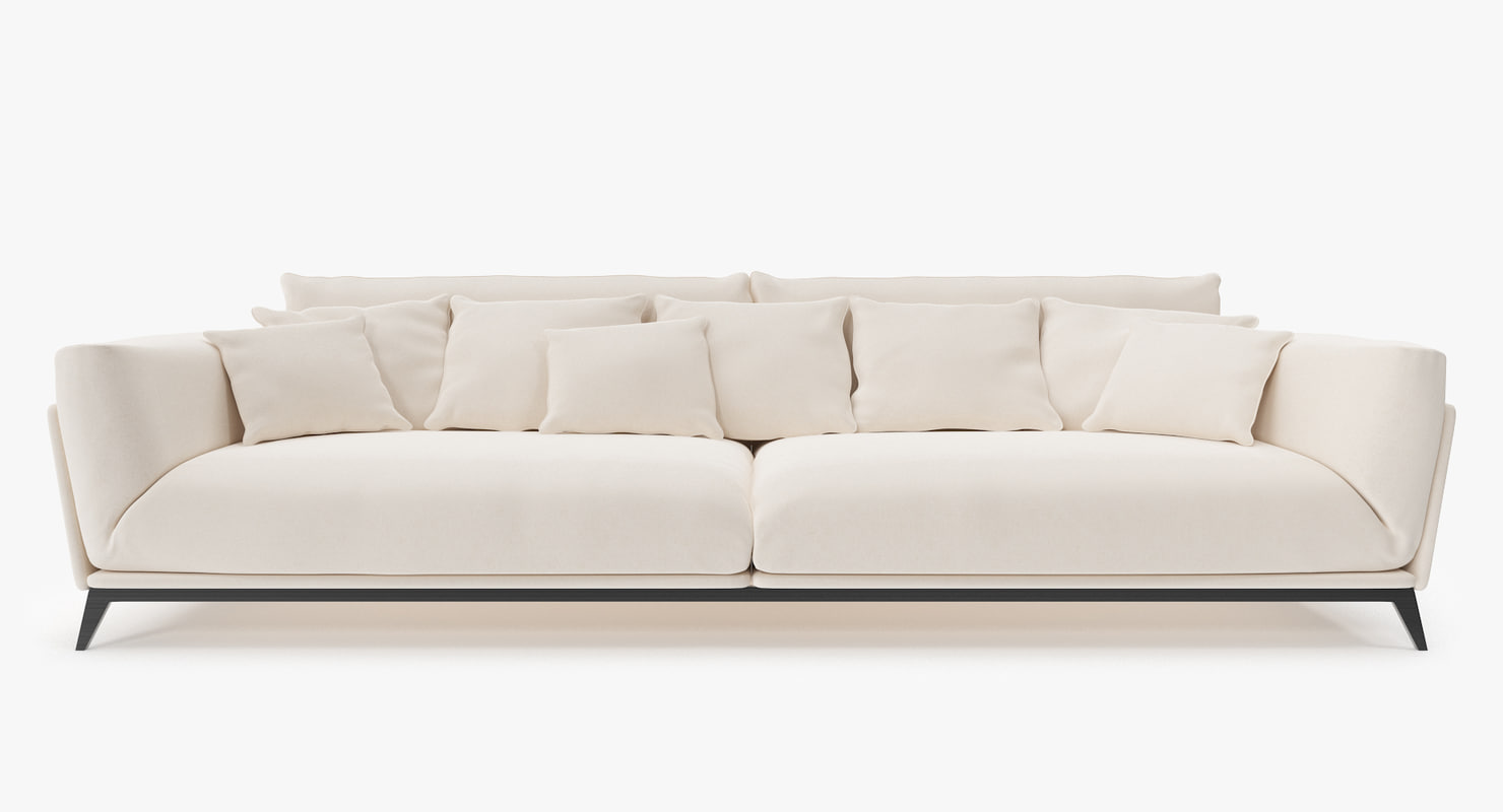 3d model interior fabric sofa
