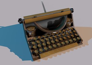 3d vintage typewriter