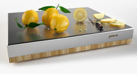 Lemons on chopping board