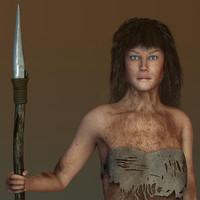 laura jungle girl - 3d max
