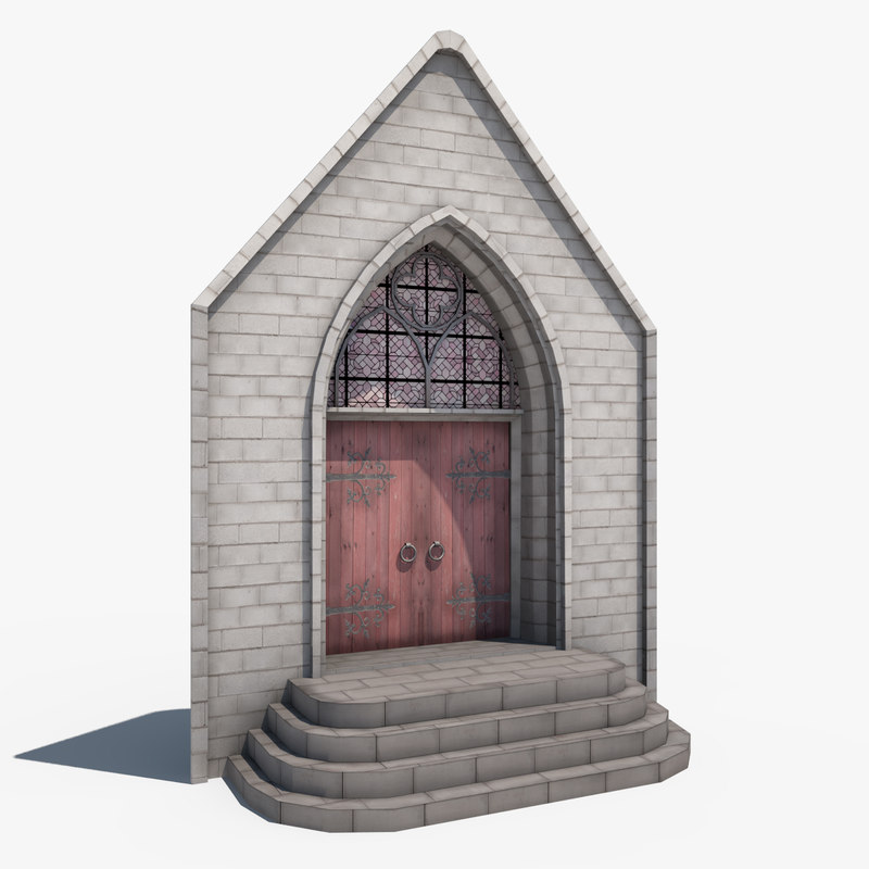 3d model ghotic door