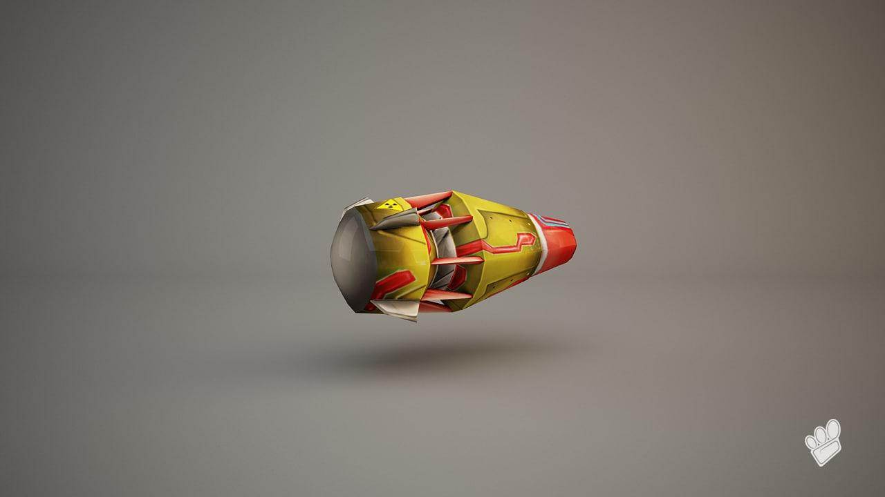 jetpack red yellow c4d