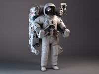 nasa astronaut mmu backpack 3d model