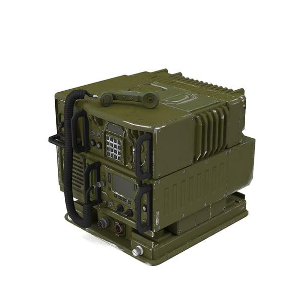 3d model military transceiver